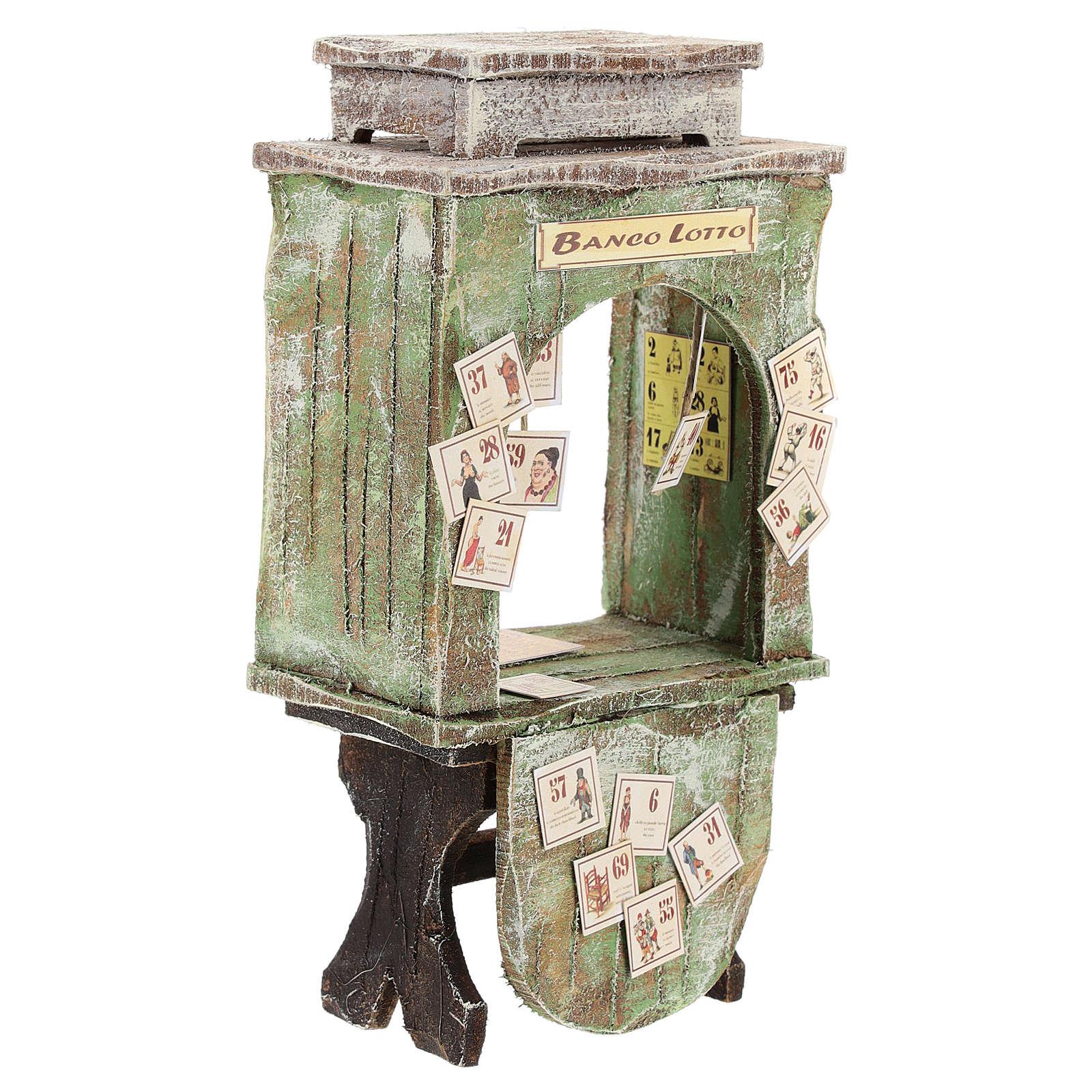 Banco del lotto legno presepe 12 cm 4
