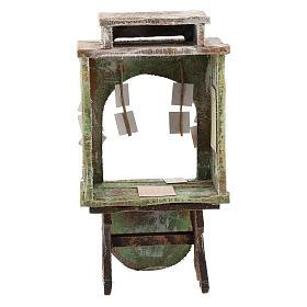 Banco del lotto legno presepe 12 cm s4