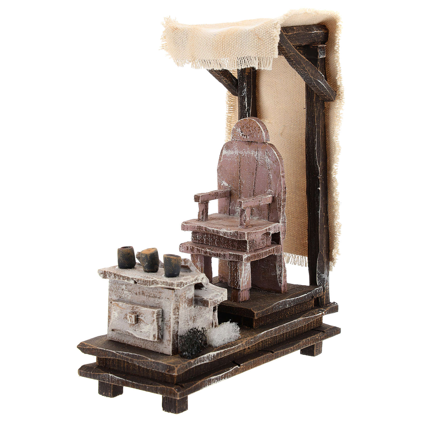 Shoeshine setting for 10 cm Nativity scene 4