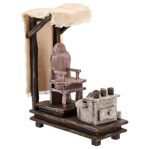Shoeshine setting for 10 cm Nativity scene 3