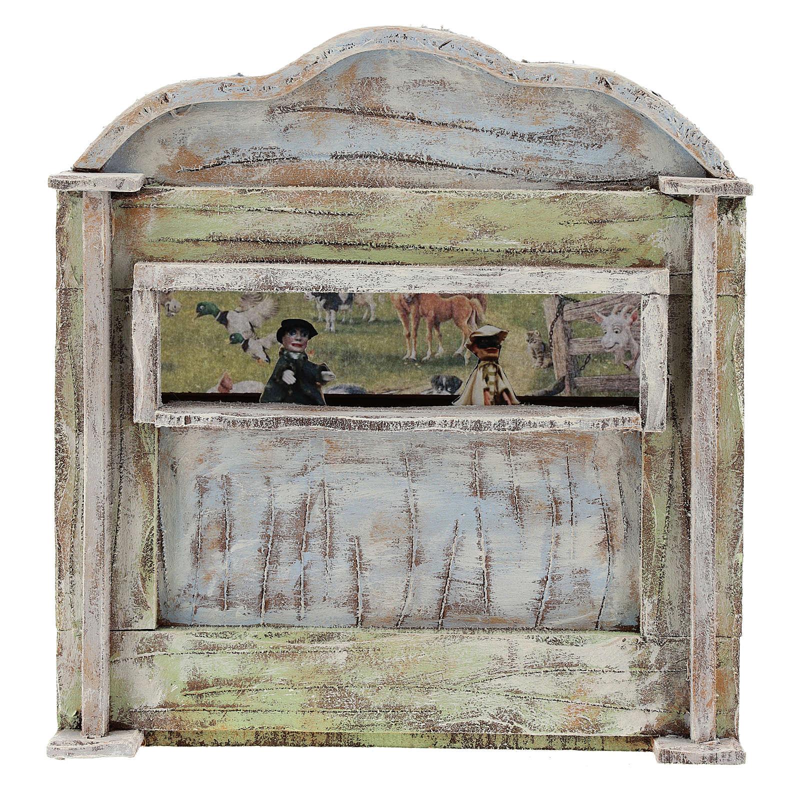 Puppet show theatre for 12 cm Nativity scene 4