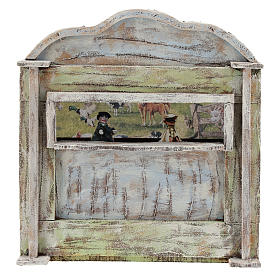 Teatro de madera con títeres belén 12 cm s1