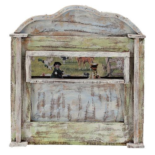 Teatro de madera con títeres belén 12 cm 1