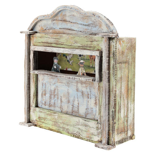 Teatro de madera con títeres belén 12 cm 2