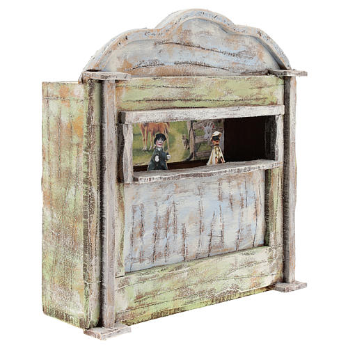 Teatro de madera con títeres belén 12 cm 3