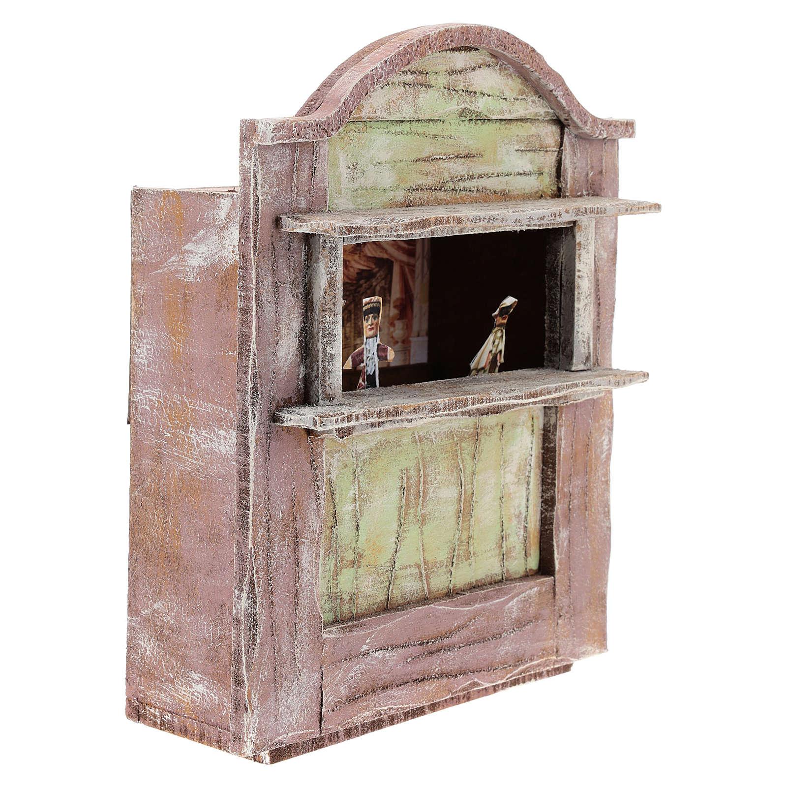 Teatro madera rosa belén 12 cm 4