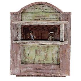 Teatro madera rosa belén 12 cm s1
