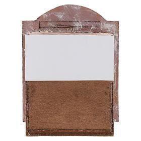 Teatrino legno rosa presepe 12 cm s4