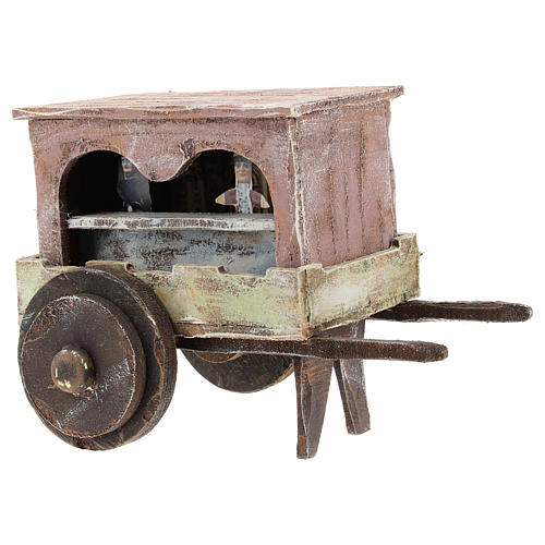 Puppet show cart for 12 cm Nativity scene in wood 3