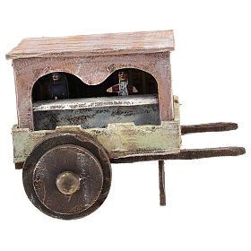 Carro burattinaio legno presepi 12 cm s1