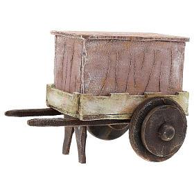 Carro burattinaio legno presepi 12 cm s2