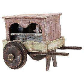 Carro burattinaio legno presepi 12 cm s3