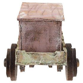 Carro burattinaio legno presepi 12 cm s4