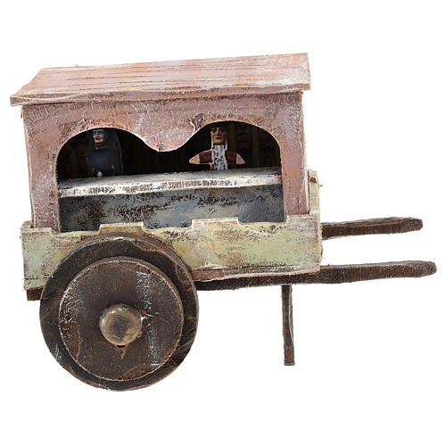 Carro burattinaio legno presepi 12 cm 1
