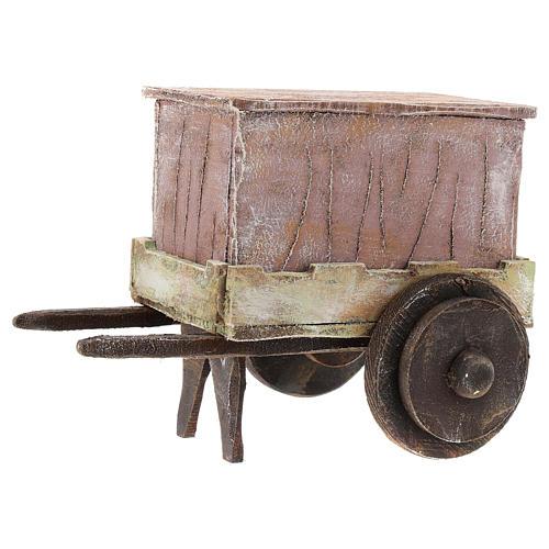 Carro burattinaio legno presepi 12 cm 2