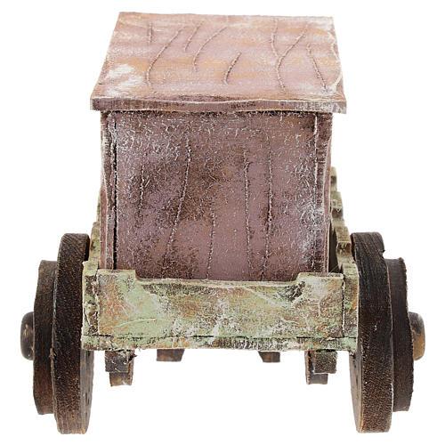 Carro burattinaio legno presepi 12 cm 4