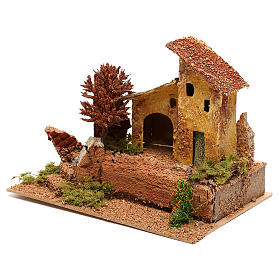 House with autumn tree for 6 cm Nativity scene s2