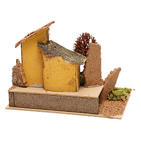 House with autumn tree for 6 cm Nativity scene s4