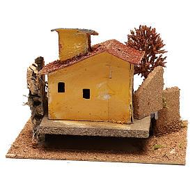 Casolare con albero e scalinata per presepe di 6 cm s4
