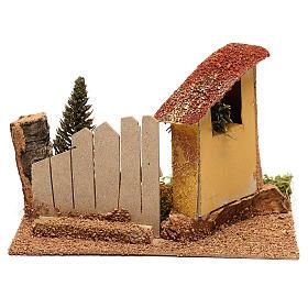 Casa con ciprés para belén de 6 cm s4