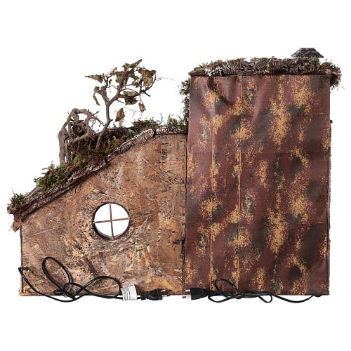 Ancient temple with light and fountain for 18-24 cm Neapolitan Nativity scene 55x65x40 cm 5