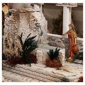 Presepe completo storico palestinese 100x320x120 cm statue Moranduzzo s7