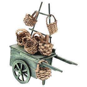 Carro vendedor cestas para belén napolitano de 6-8 cm s1