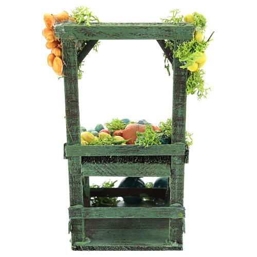 Banco frutta e verdura per presepe napoletano di 6-8 cm 4