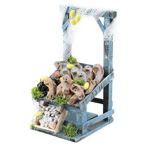 Banco pescivendolo per presepe napoletano di 6-8 cm 2