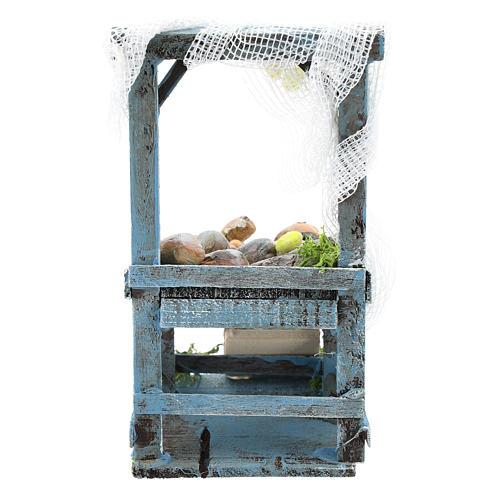 Banco pescivendolo per presepe napoletano di 6-8 cm 4