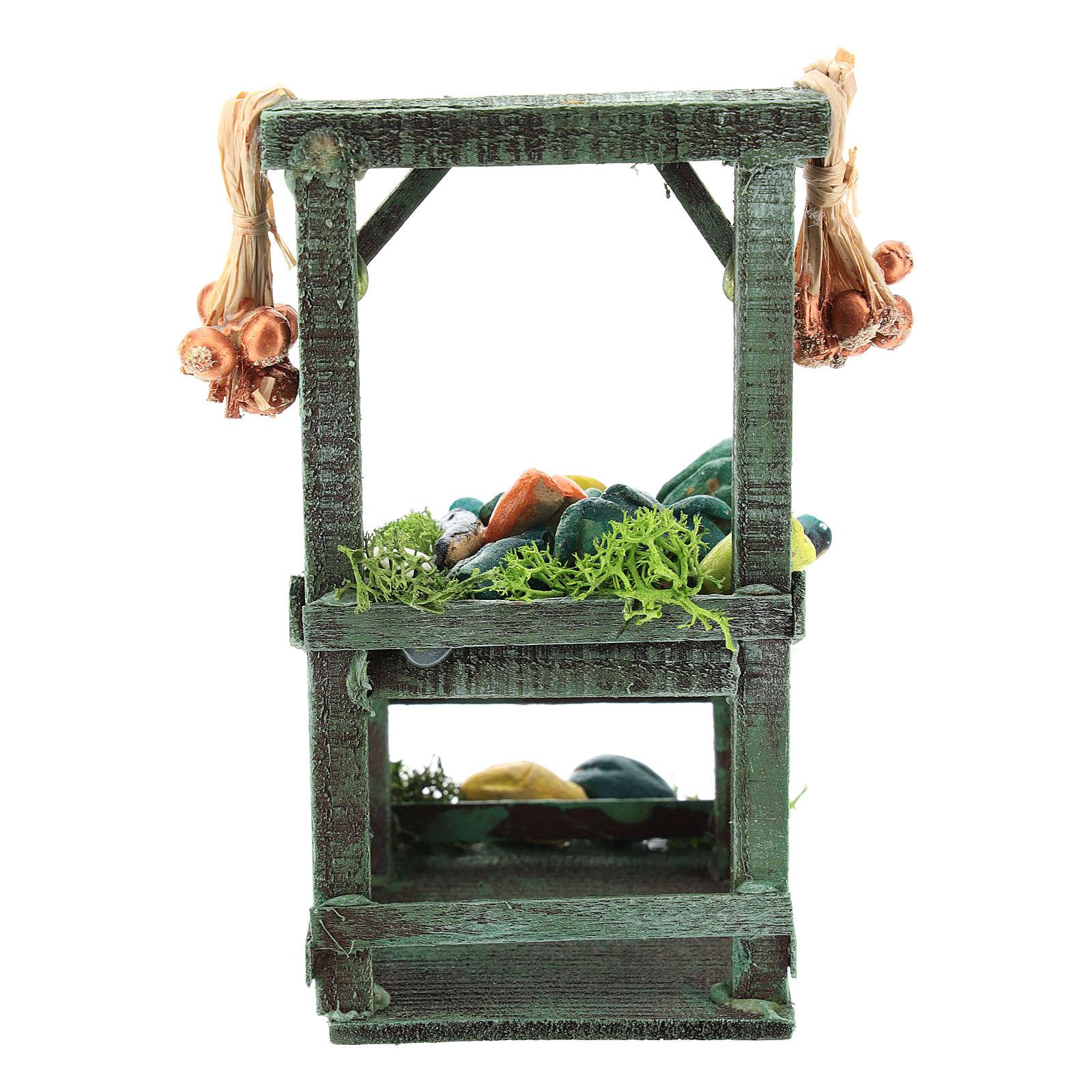 Titled vegetable stand for Neapolitan Nativity Scene of 6-8 cm 4