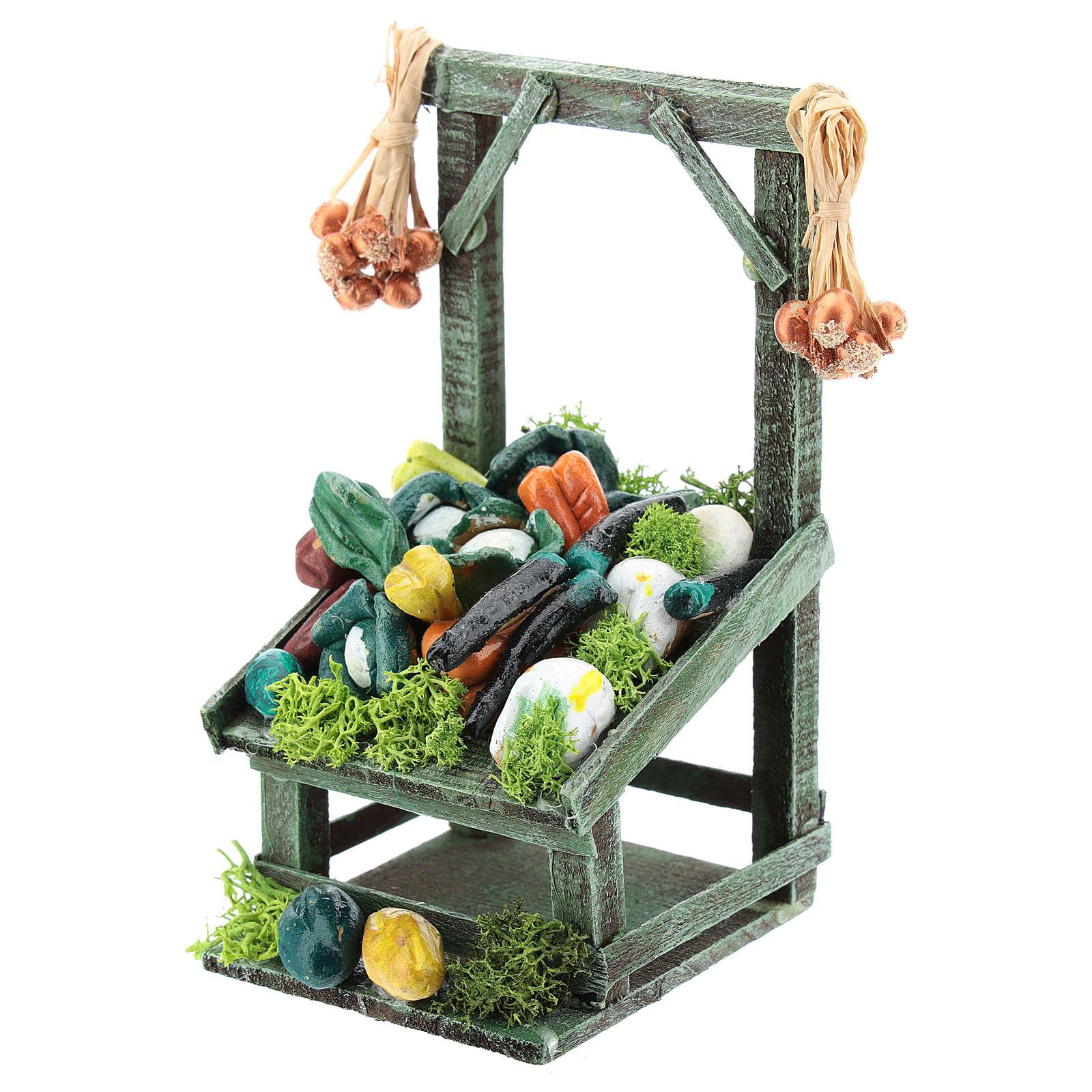Mostrador inclinado hortalizas para belén napolitano de 6-8 cm 4