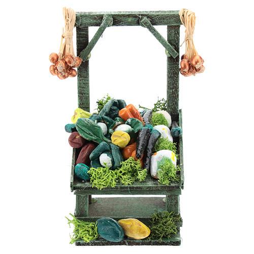 Mostrador inclinado hortalizas para belén napolitano de 6-8 cm 1