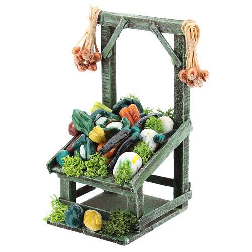 Mostrador inclinado hortalizas para belén napolitano de 6-8 cm 2