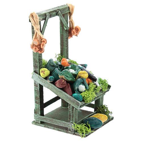 Mostrador inclinado hortalizas para belén napolitano de 6-8 cm 3