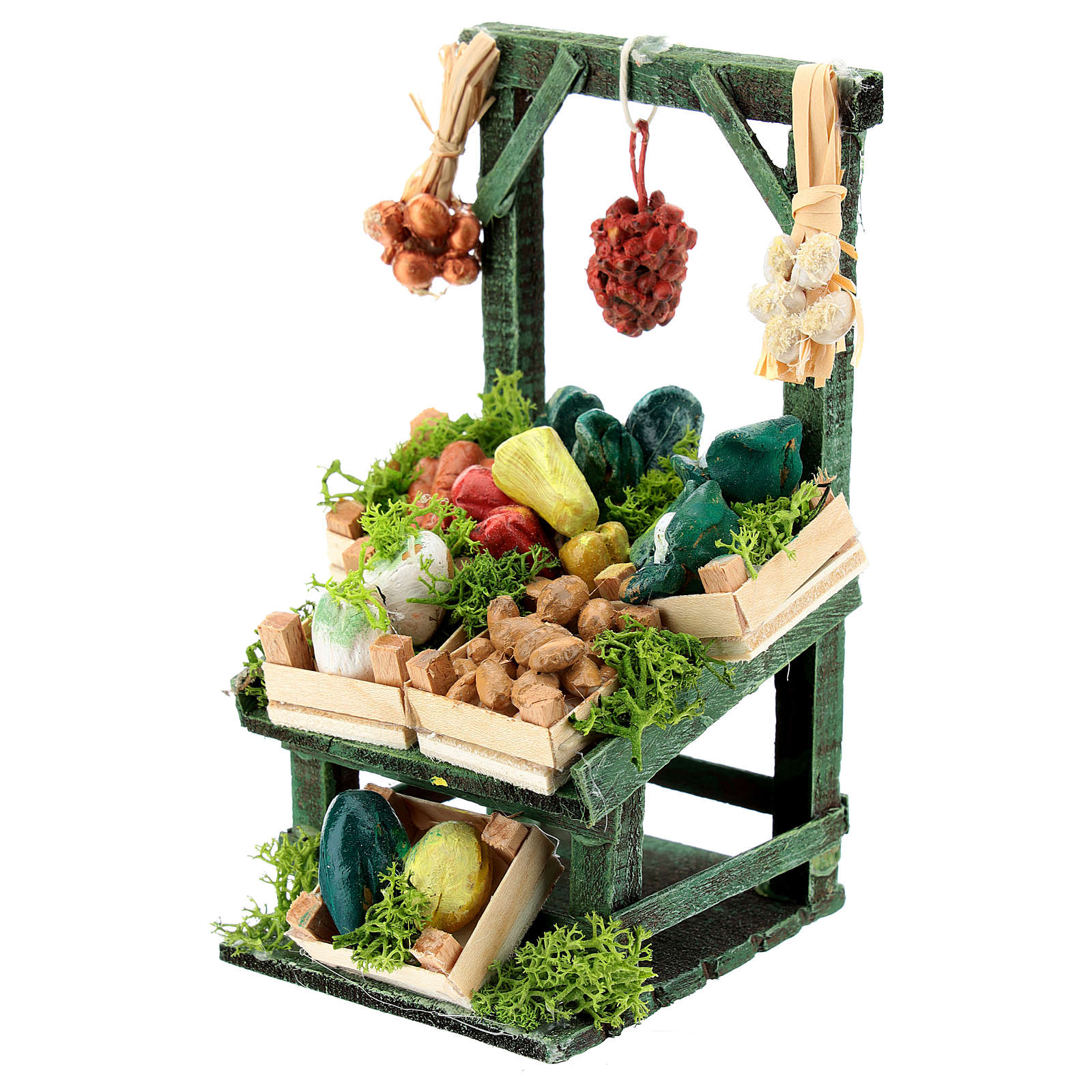 Titled vegetable stand with boxes for Neapolitan Nativity Scene of 6-8 cm 4