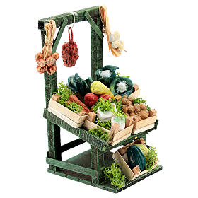 Titled vegetable stand with boxes for Neapolitan Nativity Scene of 6-8 cm s3