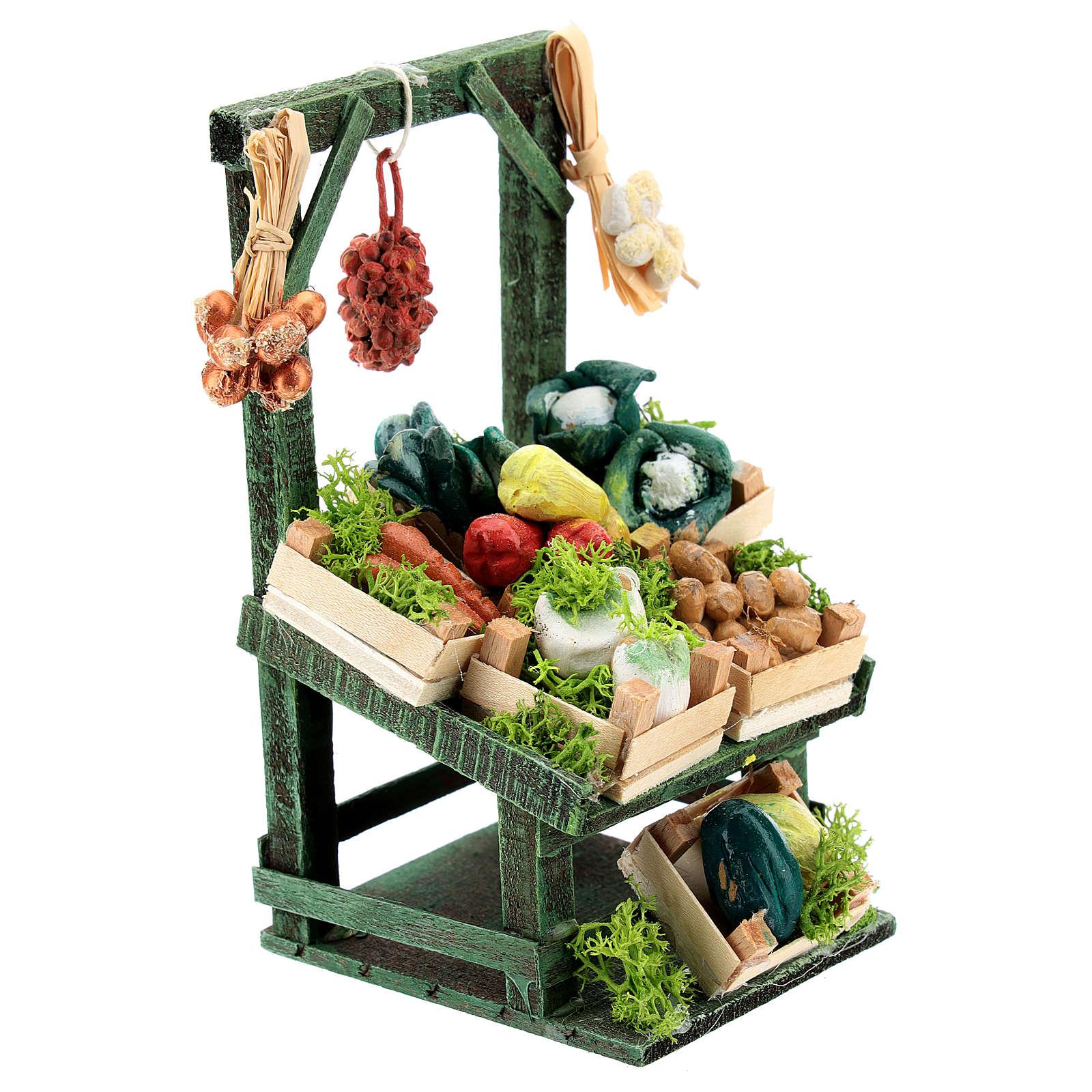 Mostrador inclinado verdura en cajitas para belén napolitano de 6-8 cm 4
