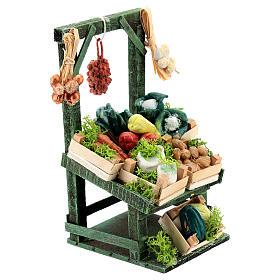 Mostrador inclinado verdura en cajitas para belén napolitano de 6-8 cm s3