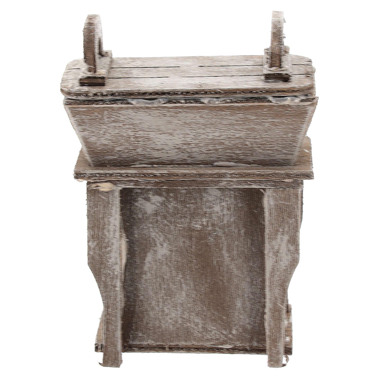 Aparador con mueble para belén napolitano de 6-8 cm 4
