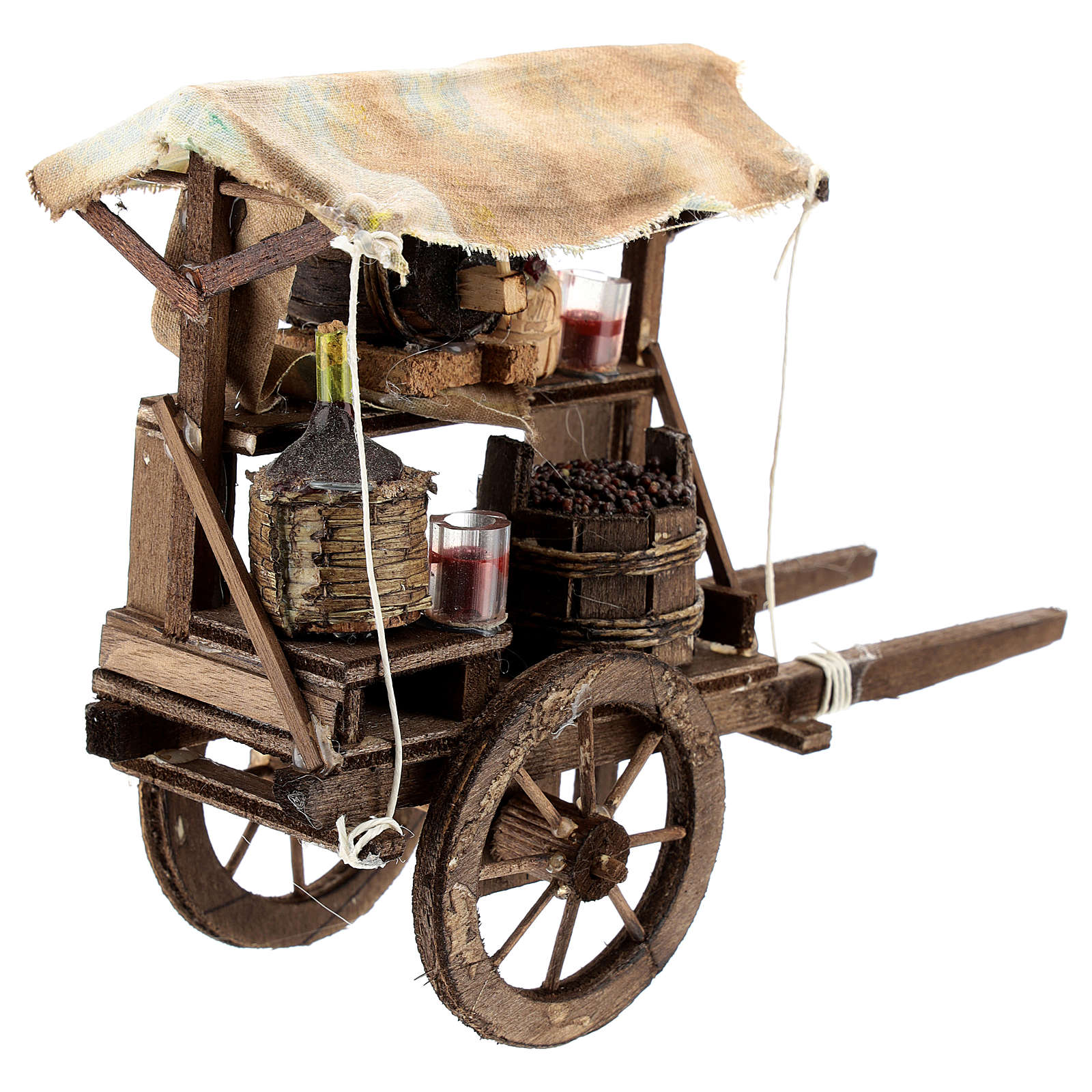 Wine maker cart for Neapolitan Nativity Scene of 6-8 cm 4