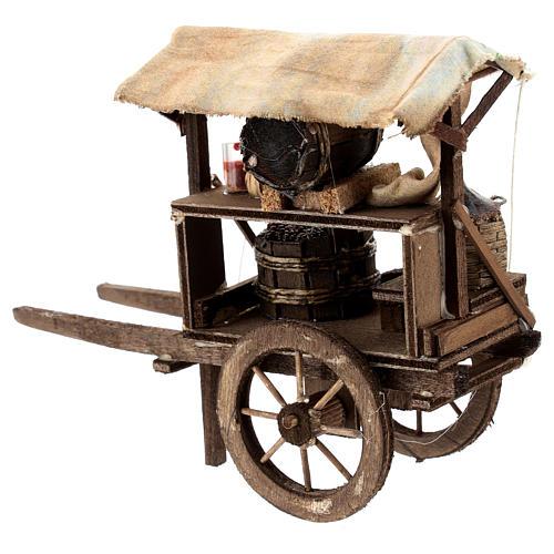 Wine maker cart for Neapolitan Nativity Scene of 6-8 cm 3