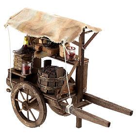 Carro del vendedor de vino para belén napolitano de 6-8 cm s1