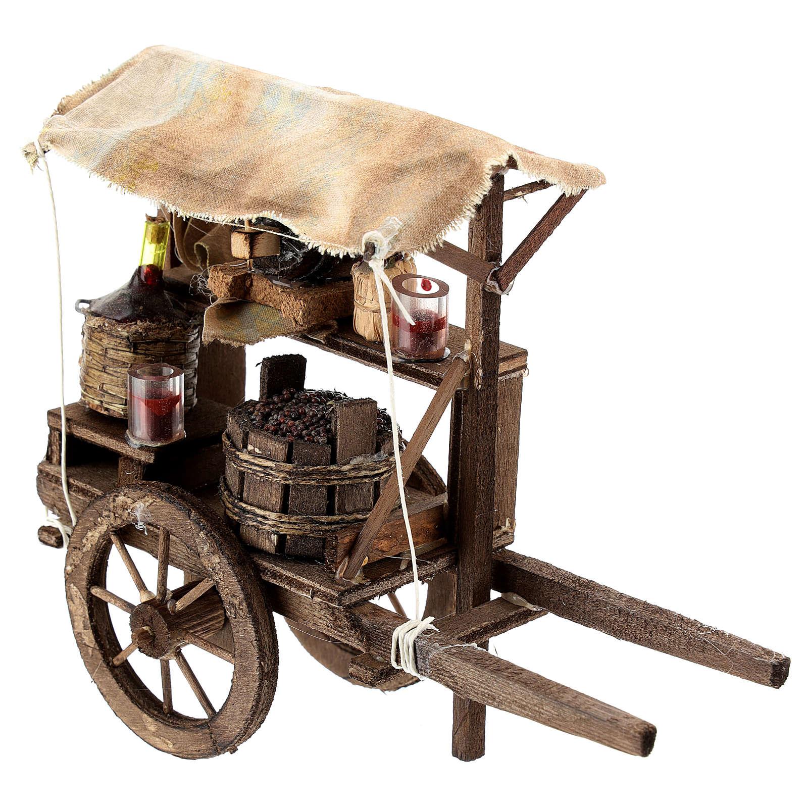 Carro del vinaiolo per presepe napoletano di 6-8 cm 4