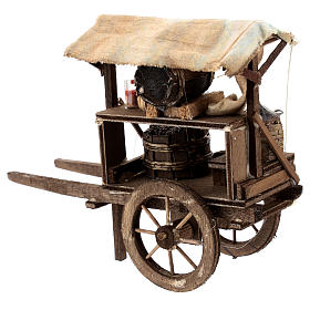 Carro del vinaiolo per presepe napoletano di 6-8 cm s3
