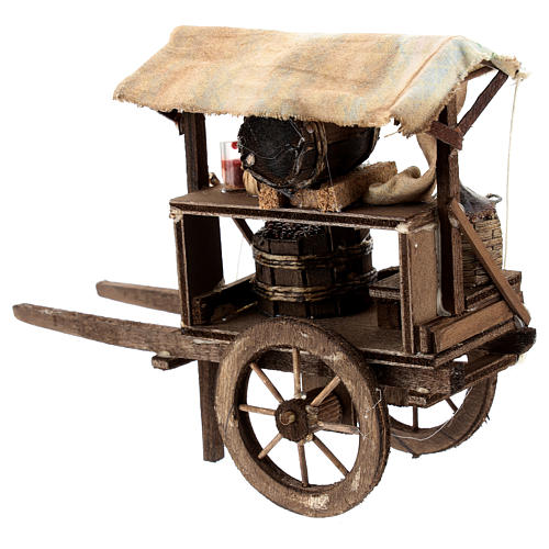 Carro del vinaiolo per presepe napoletano di 6-8 cm 3