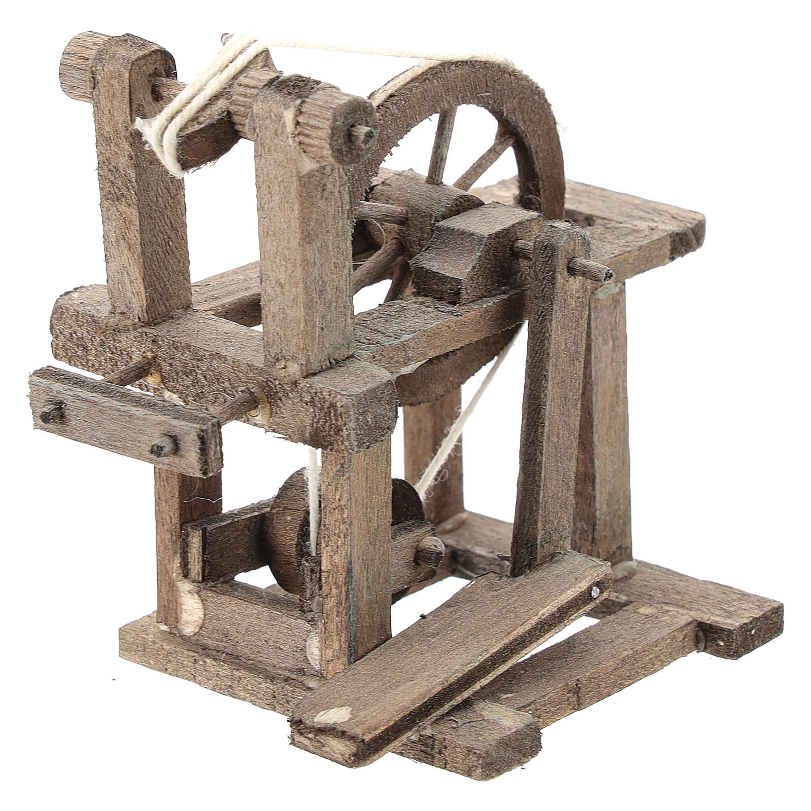 Spinning wheel for Neapolitan Nativity Scene of 6-8 cm 4