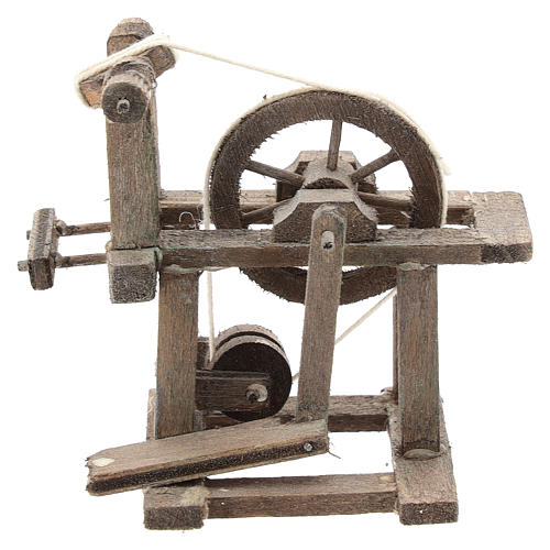 Spinning wheel for Neapolitan Nativity Scene of 6-8 cm 1