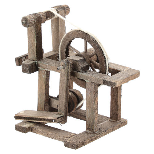 Spinning wheel for Neapolitan Nativity Scene of 6-8 cm 2