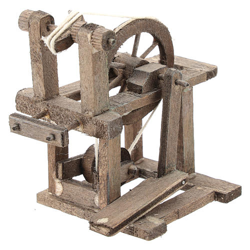 Spinning wheel for Neapolitan Nativity Scene of 6-8 cm 3